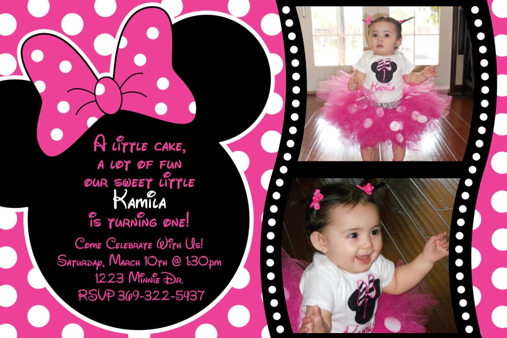 free minnie mouse printable birthday invitations | drevio, Invitation templates