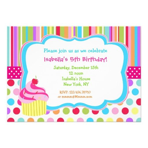 cupcakes free birthday card invitations templates