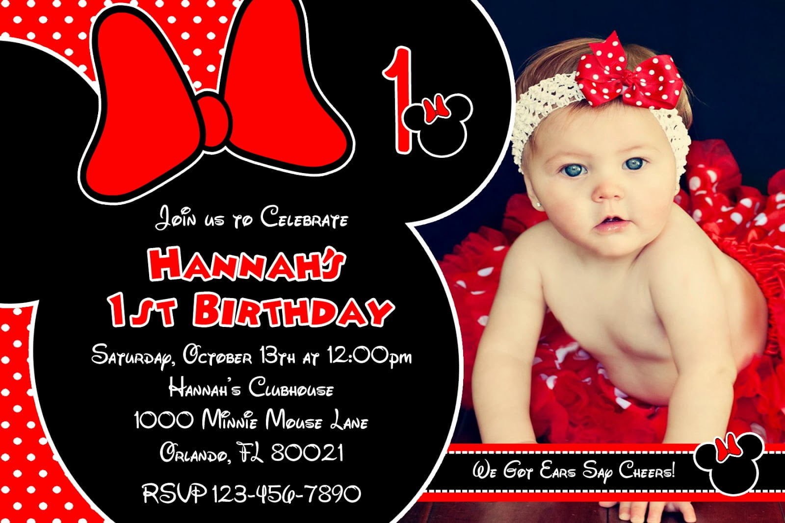 red minnie mouse printable birthday invitations