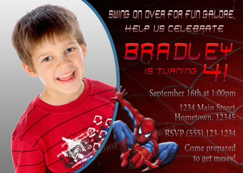 Red Free Printable Boys Birthday Invitations