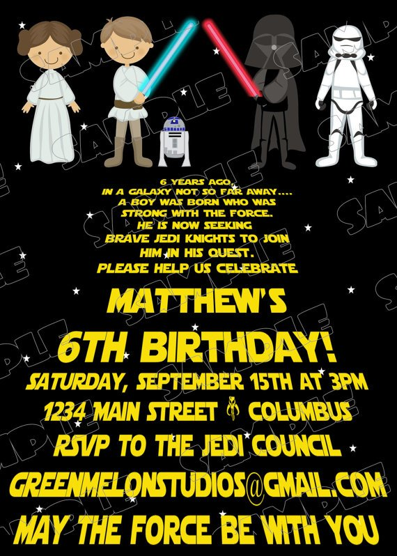 free printable star wars birthday invitations  u2013 template