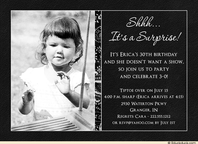 Surprise 50th Birthday Invitations Gallery Invitation Design Ideas – Surprise 30th Birthday Invites