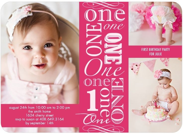 One Year Old Birthday Party Invitations ideas – One Year Old Birthday Invitation