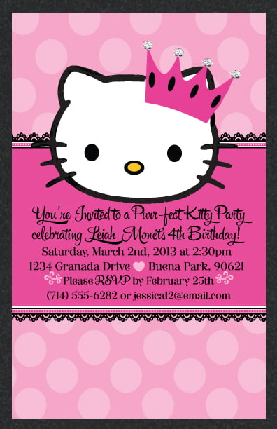 Free Printable Hello Kitty Personalized Birthday