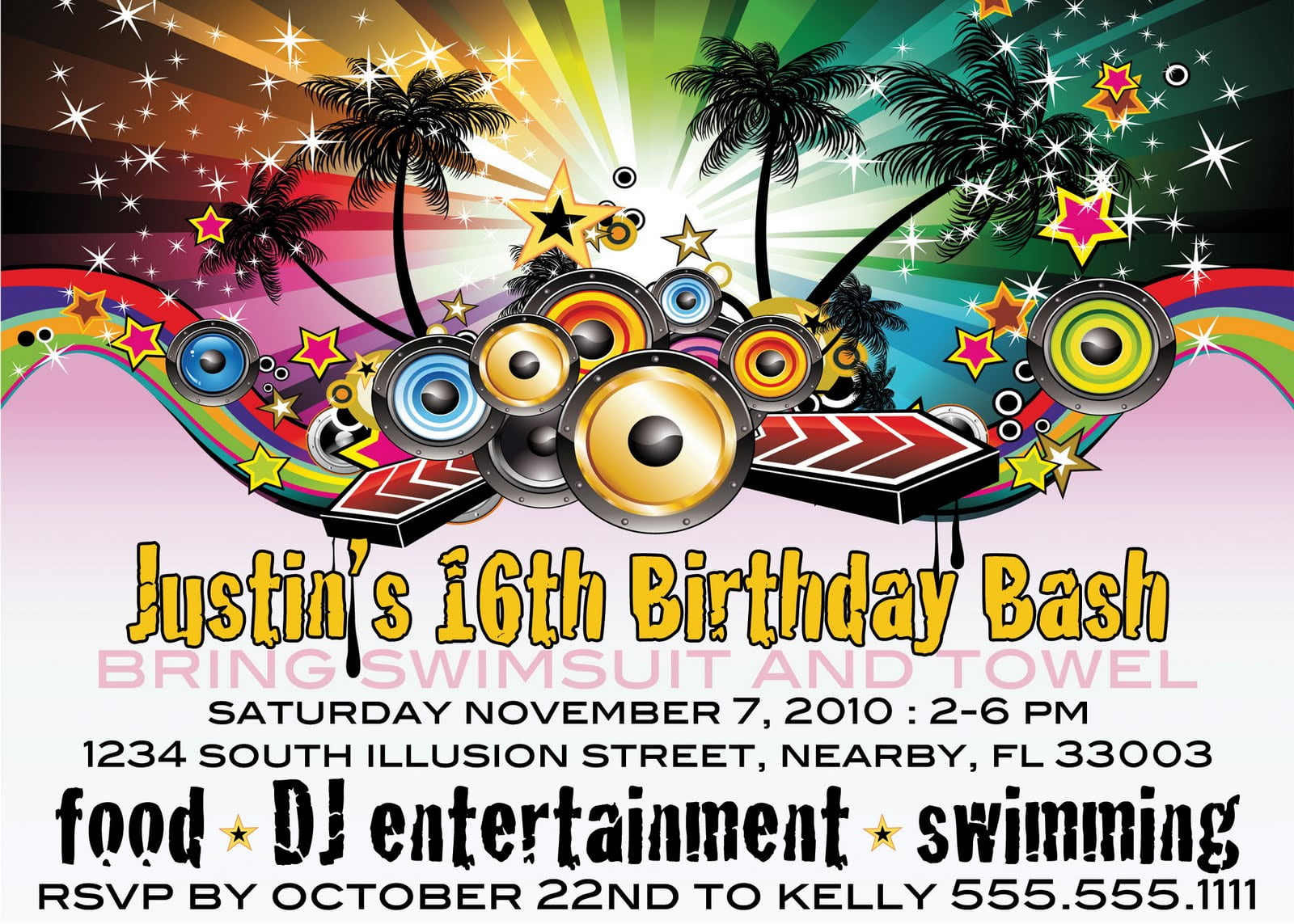 songs 16th birthday invitations for boys