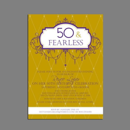 plain funny 50th birthday party invitations wording