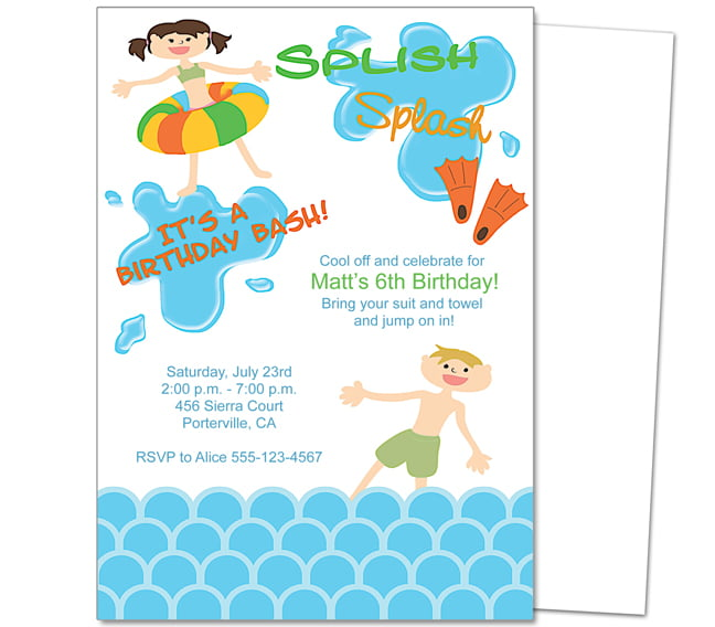 Party Invitation Templates gangcraftnet – Pool Party Invitation Templates Free Printable
