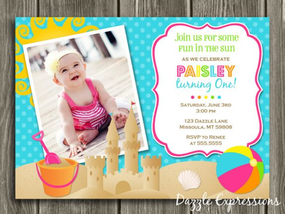 girl free 1st birthday invitations templates