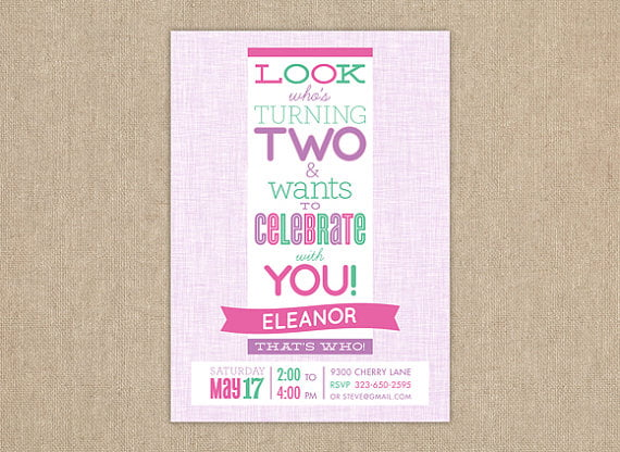 2nd Birthday Invitations Wording Samples – 2nd Birthday Invite Wording