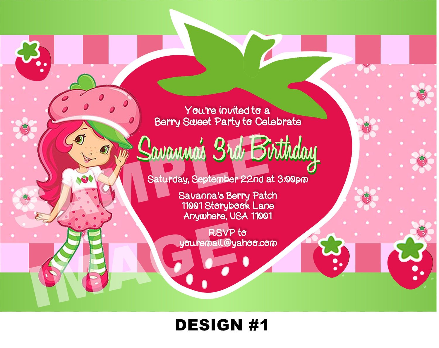 Free printable strawberry shortcake birthday party invitations sweet strawberry shortcake birthday party invitations filmwisefo