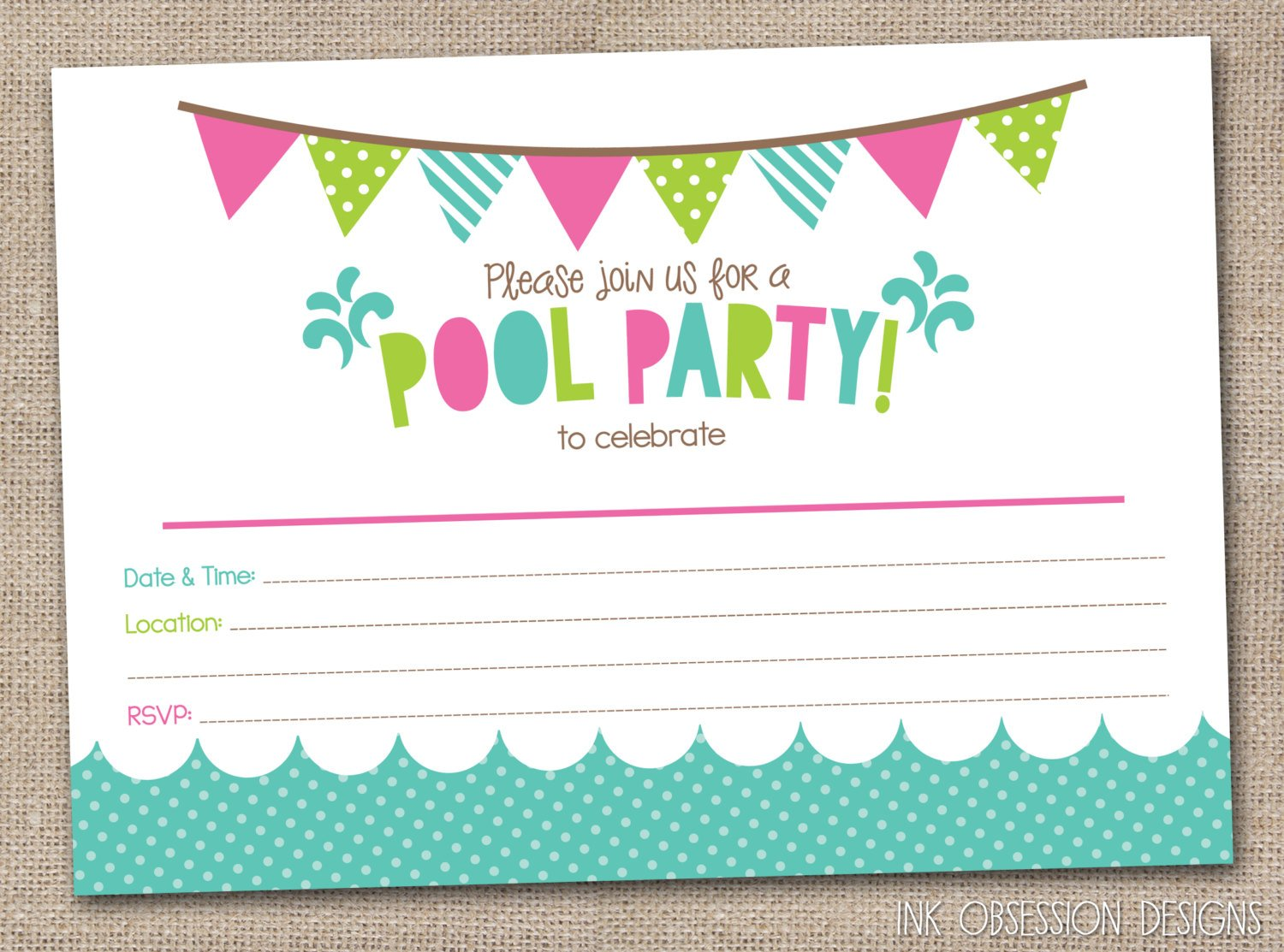 Free Printable Birthday Party Invitations Templates – Party Invites Templates Free to Print