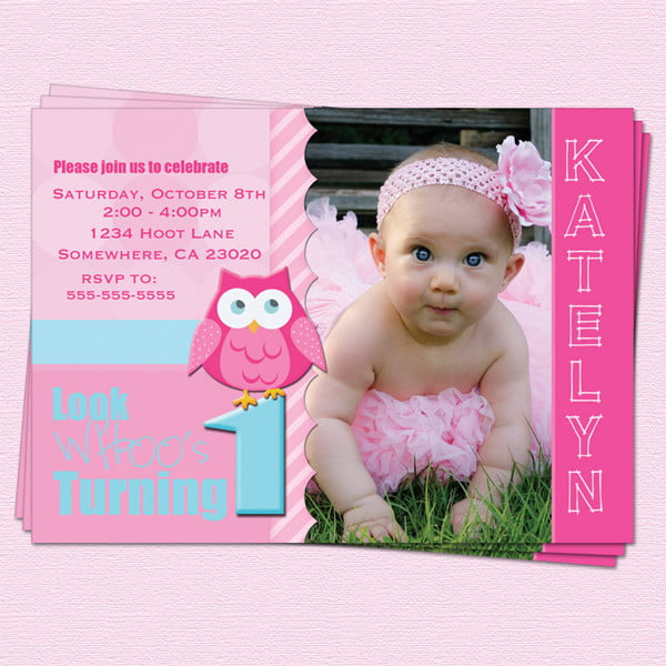 Baby St Birthday Party Invitations Drevio Invitations Design - Birthday invitation for baby