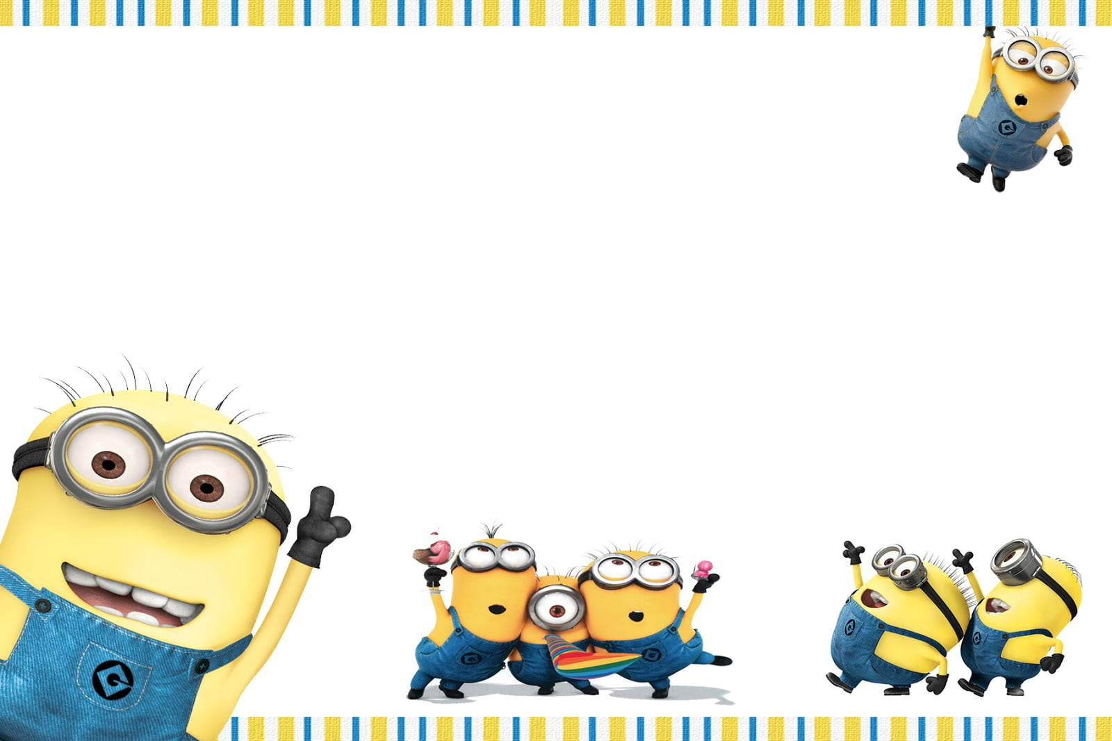 FREE Printable Minion Birthday Party Invitations Ideas Template - Minions birthday invitation template