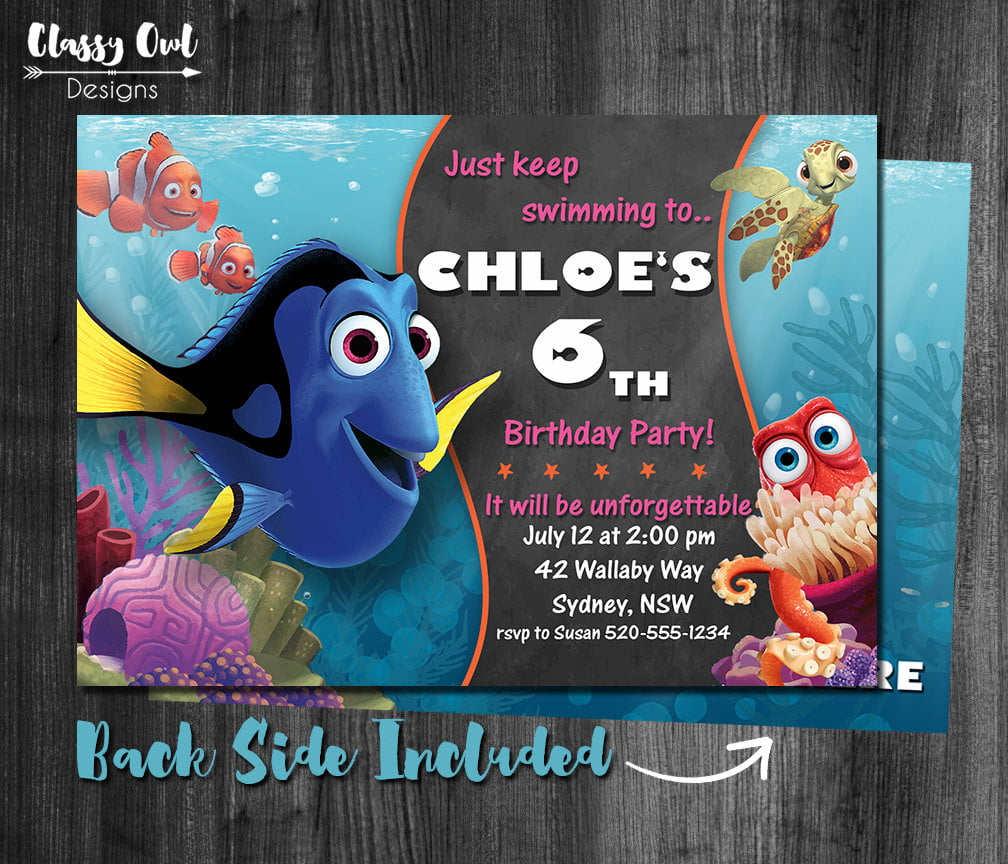 finding dory invitations ideas  u2014 free invitation templates