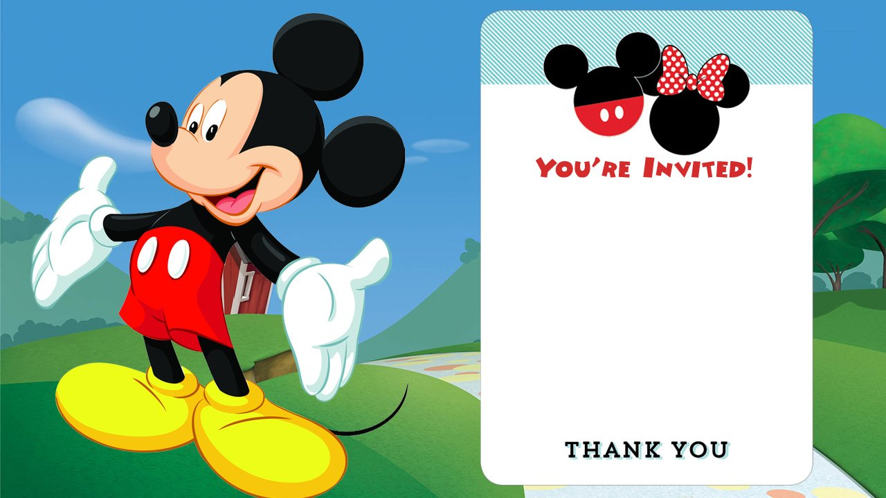 Declarative image for free printable mickey mouse invitations