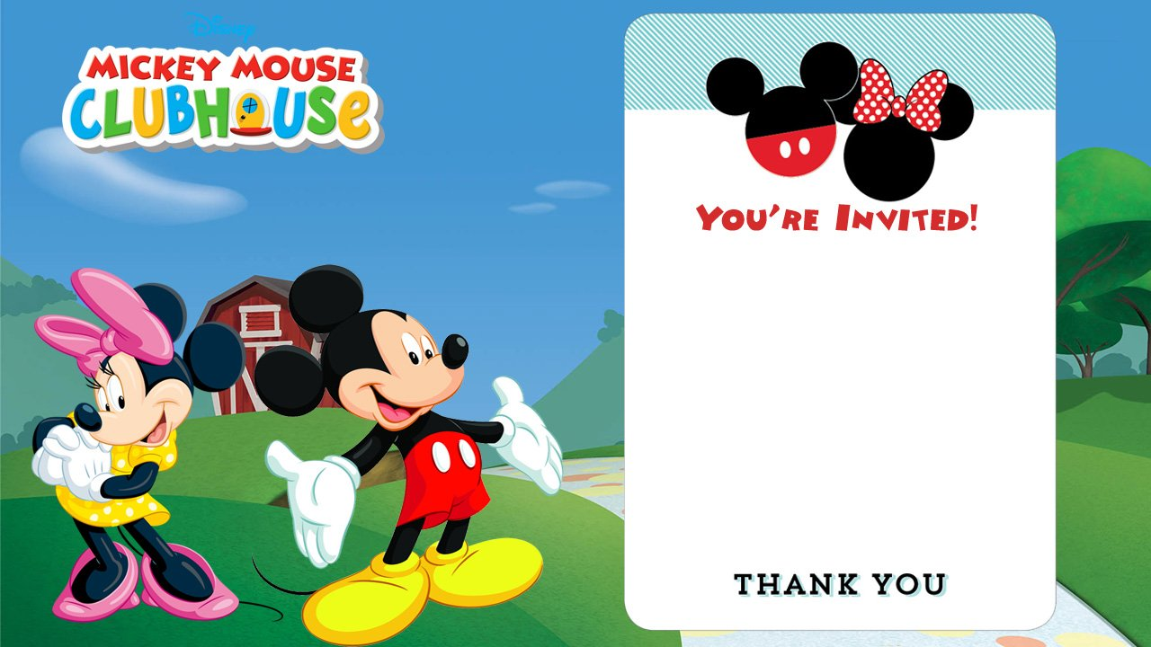 Mickey Mouse Clubhouse Party Invitations Printable Free | Infoinvitation.co