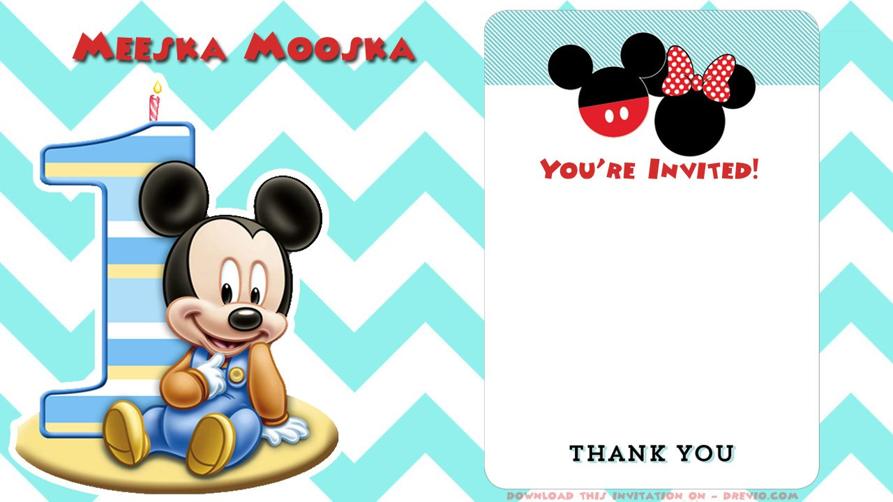 FREE Printable Mickey Mouse Invitations – Exclusive Selection ...