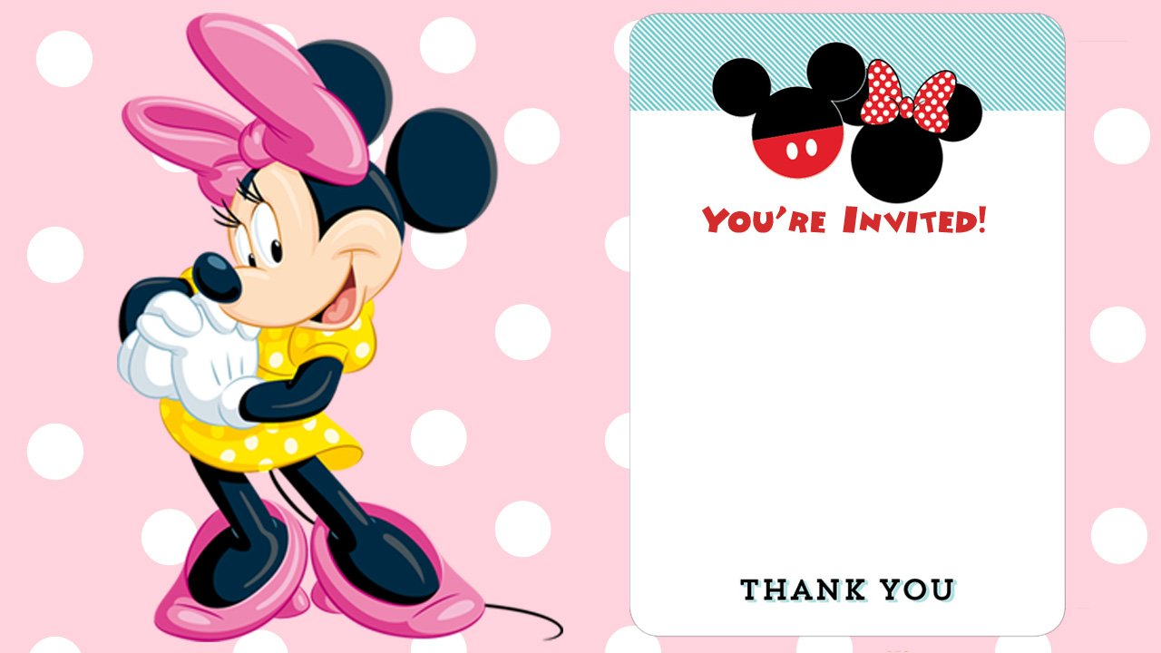 Free Disney Printable Birthday Invitations Downloadable FREE