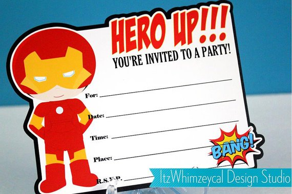 12  free printable blank superhero birthday invitation