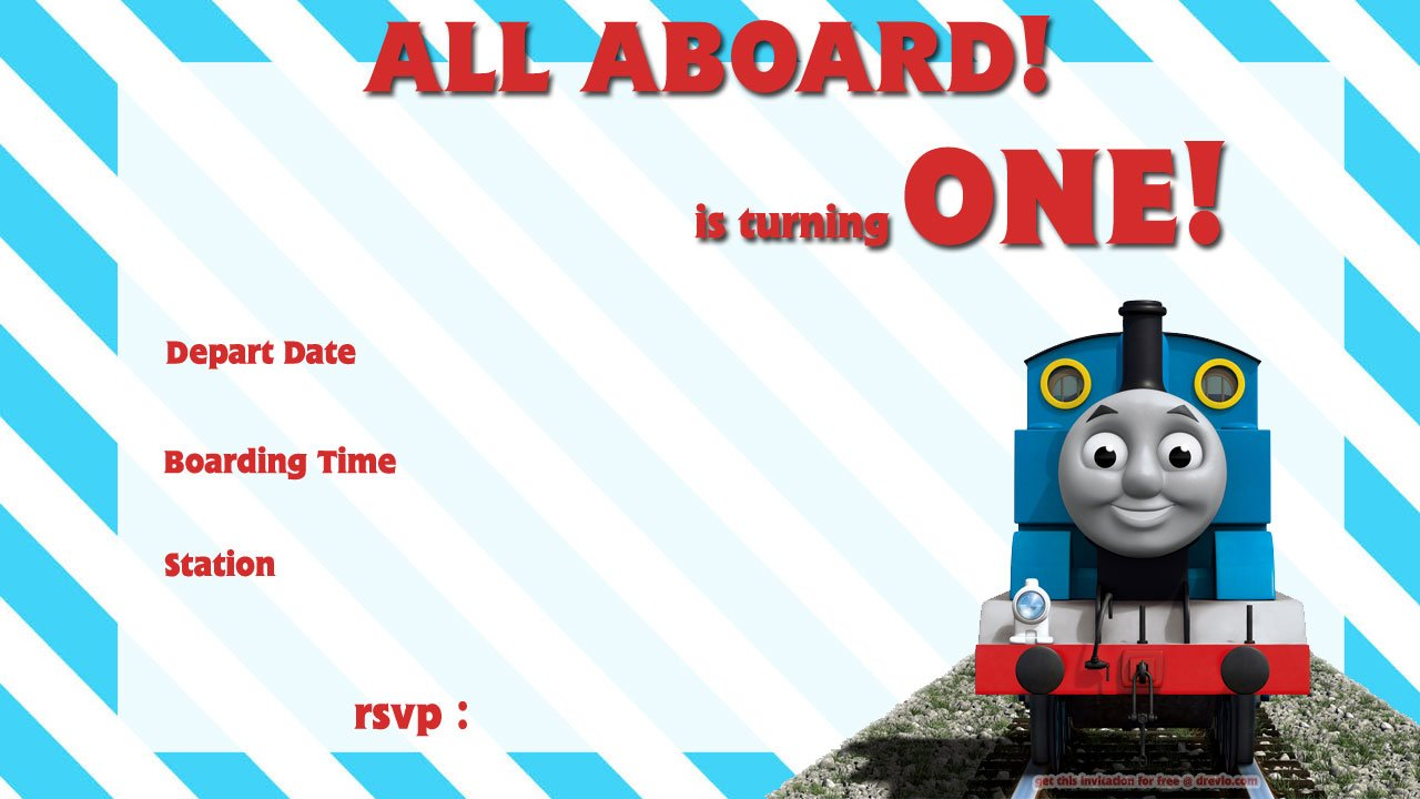Free Printable Thomas The Train 1st Birthday Invitation – Thomas the Train Birthday Invites
