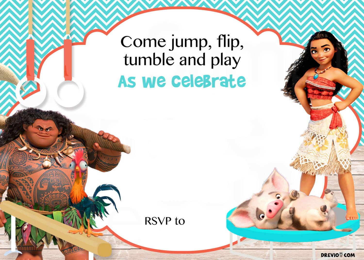 Crafty image regarding printable moana invitations