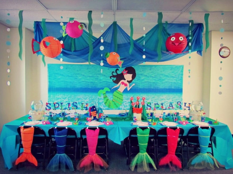 Updated free printable ariel the little mermaid for Ariel birthday party decoration ideas