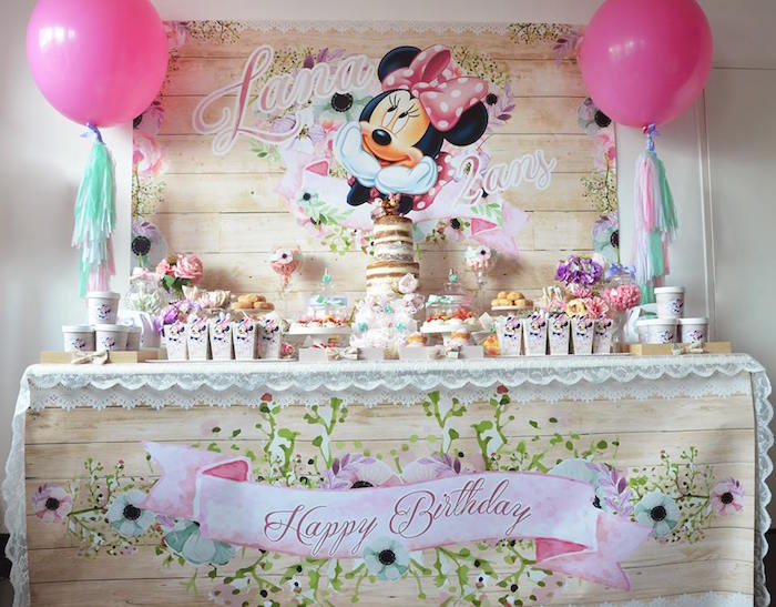 Free Minnie Mouse 2nd Birthday Invitation Template Free