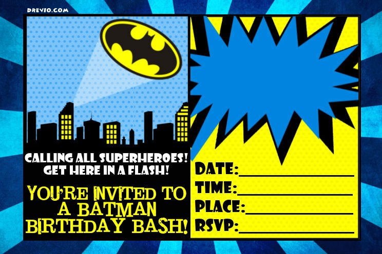 free printable batman forever invitation template  u2013 free