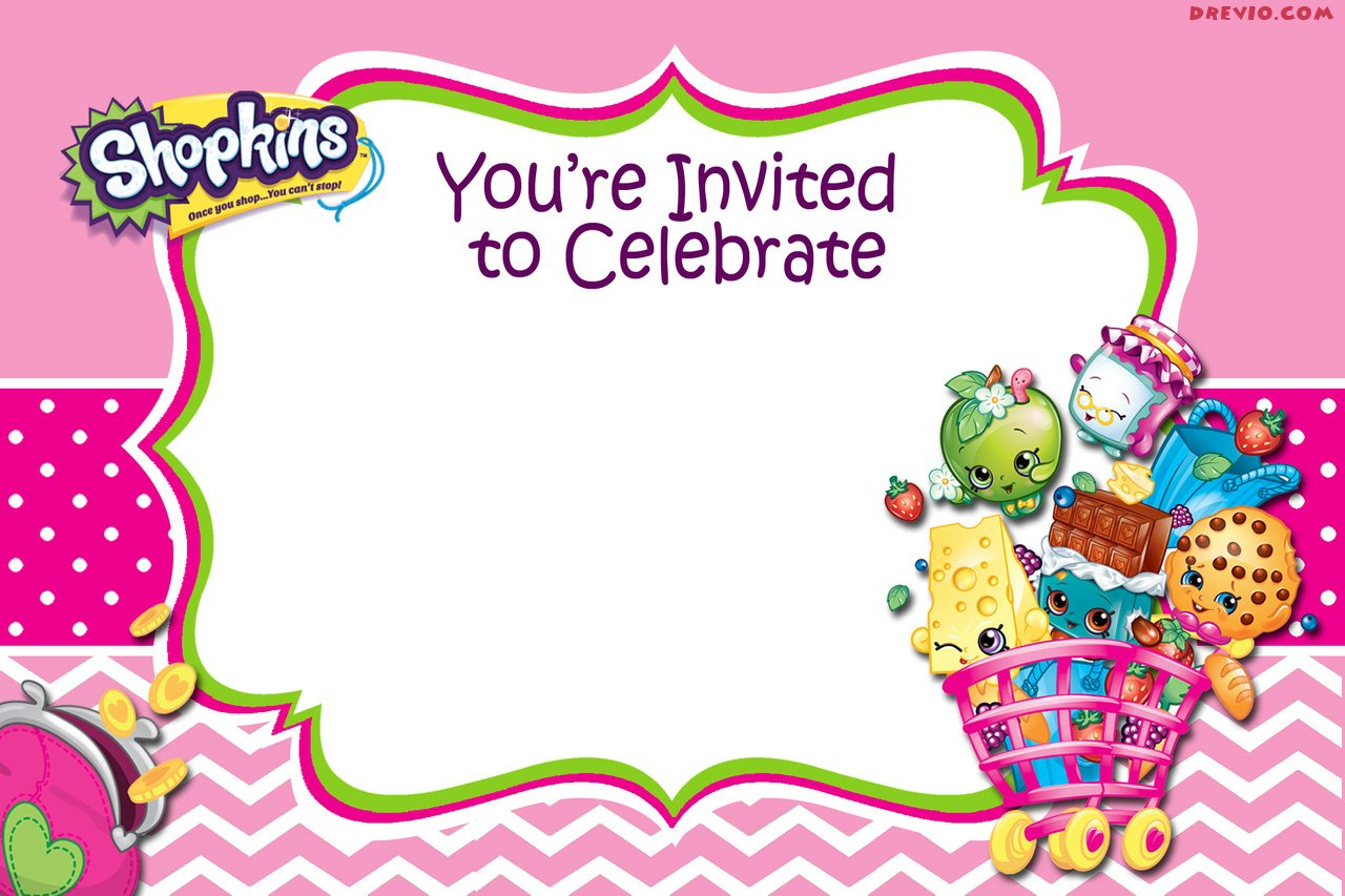FREEBlankPrintableShopkinsInvitationTemplate FREE Invitation