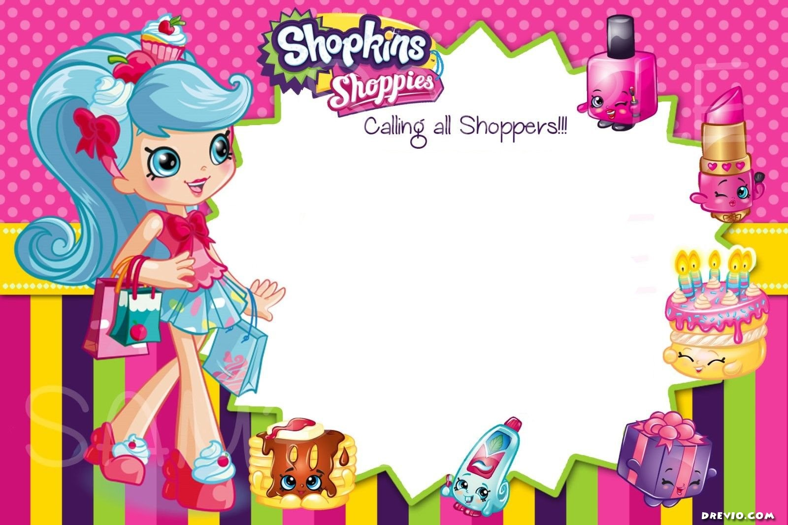 How To Download This FREE Shopkins Invitation? Itu0027s Super Simple! Simply  Click On The Image And Download The Invitation. As Simple As That. Then  Print It ...