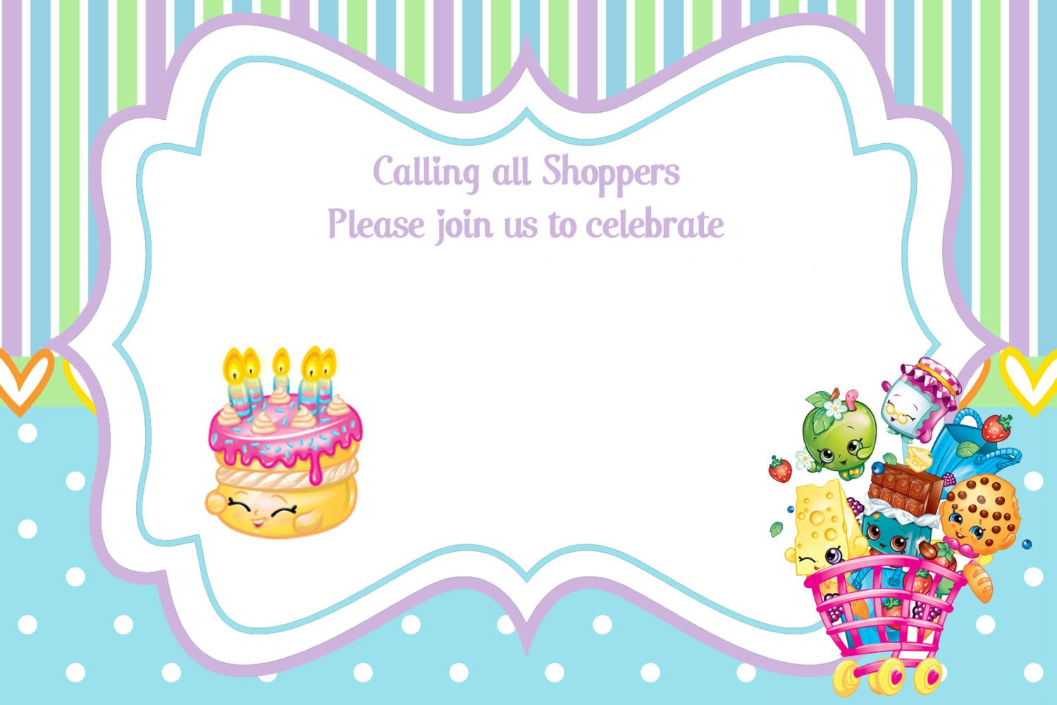 Updated – FREE Printable Shopkins Birthday Invitation Template ...