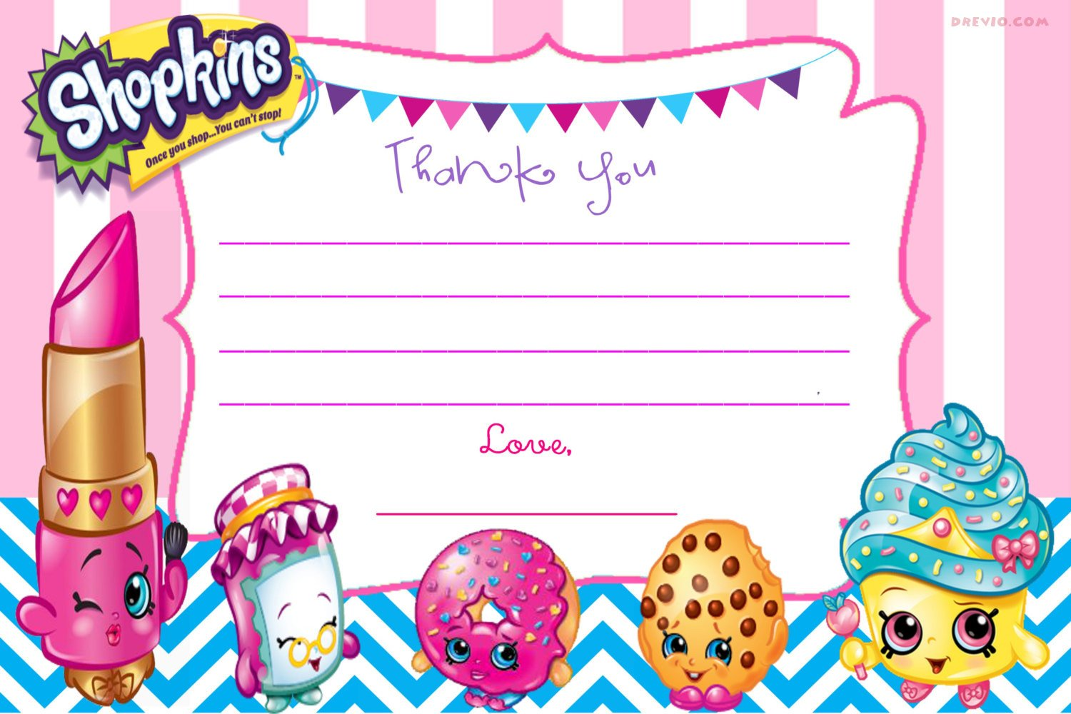 Sly image with shopkins birthday card printable