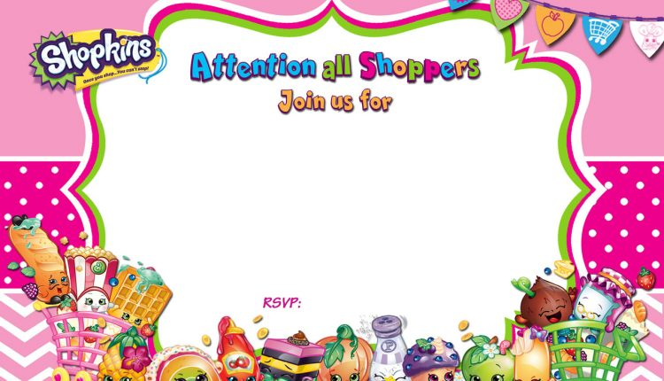 image relating to Printable Shopkins Pictures identified as Cost-free-Printable-Shopkins-Birthday-Invitation Absolutely free