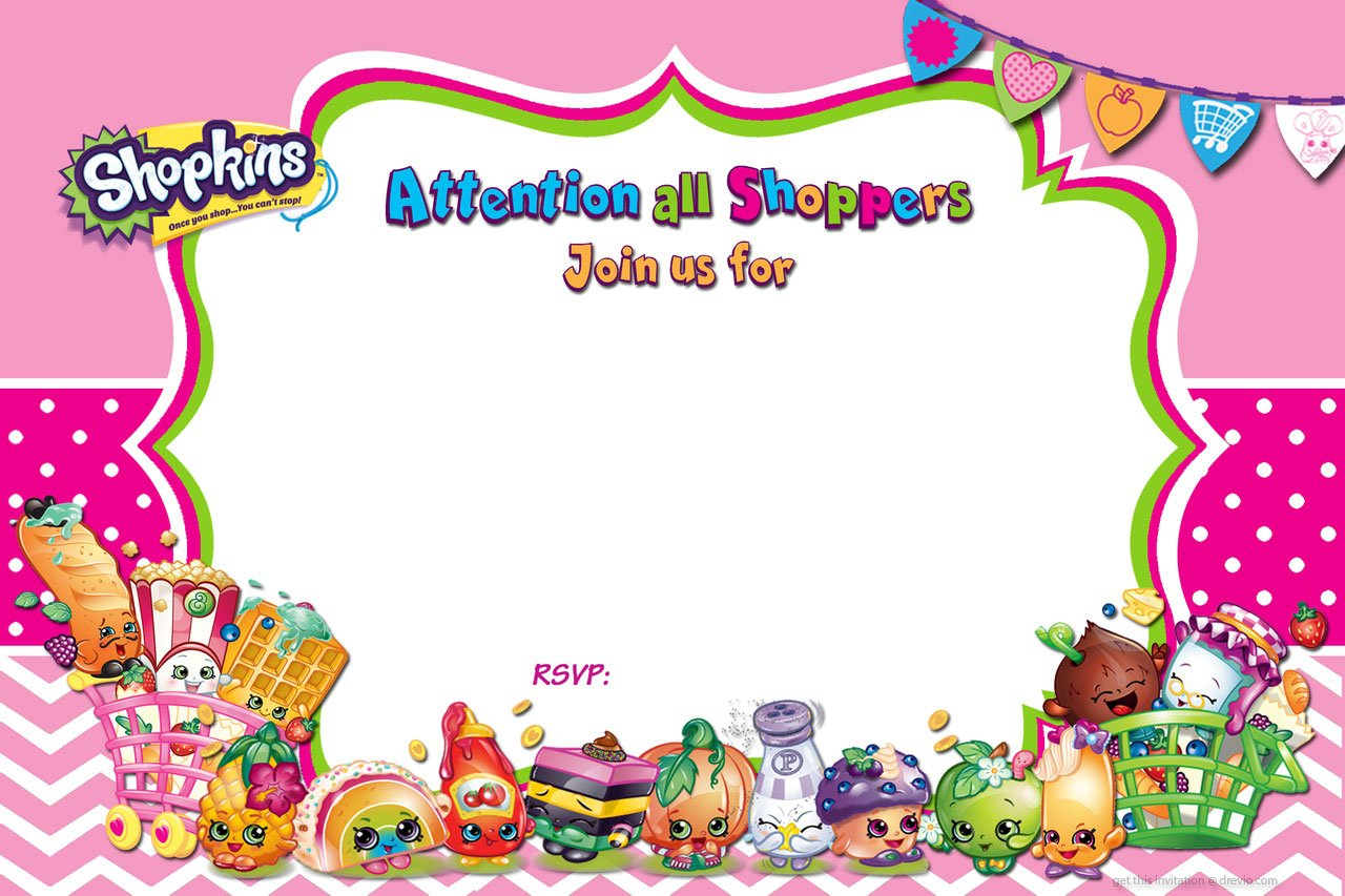 Superior Updated U2013 FREE Printable Shopkins Birthday Invitation Template
