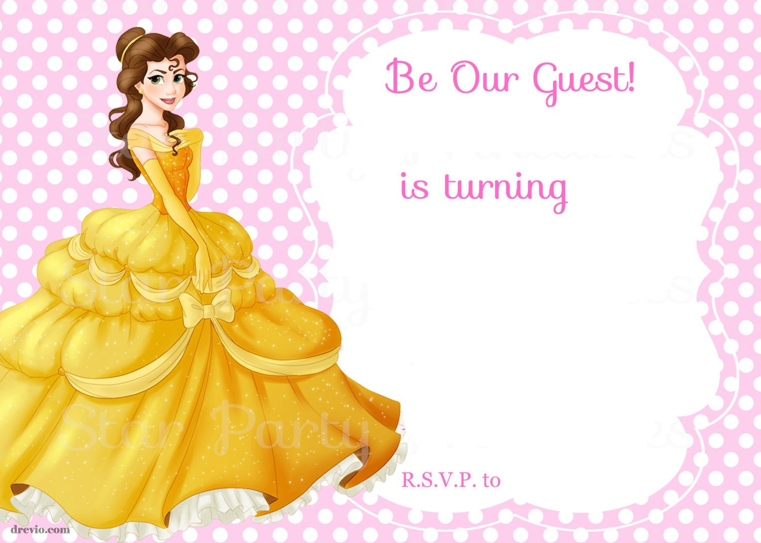 Free Printable Beauty And The Beast Royal Invitation Template - Royal birthday invitation template
