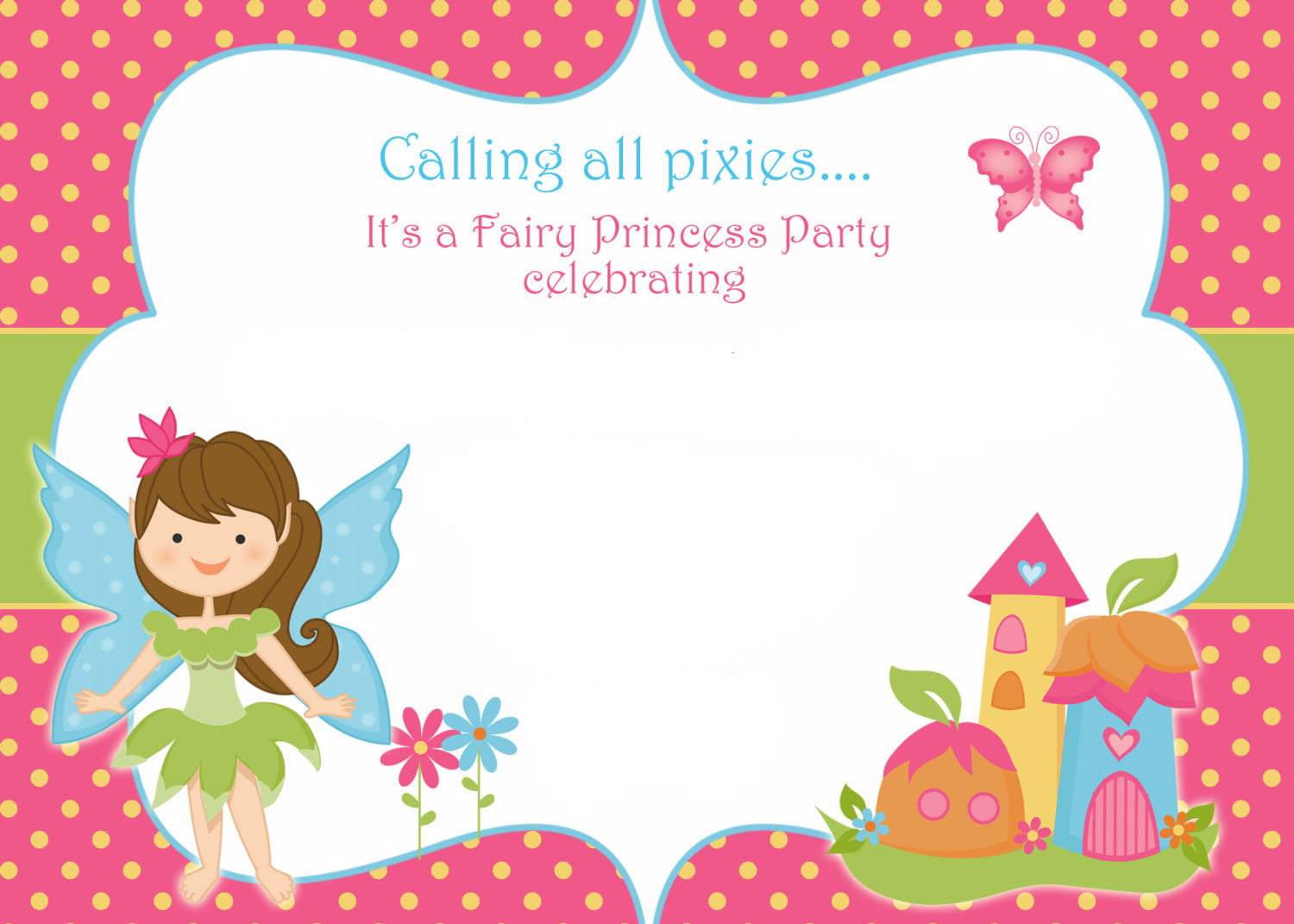Free Printable Fairy Invitation Templates