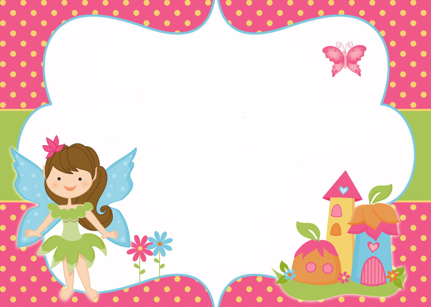 Free printable fairy invitation templates free invitation download this invitation is straightforward and easy click on on the picture and save the image as after that you can start modifying the invitation stopboris Image collections