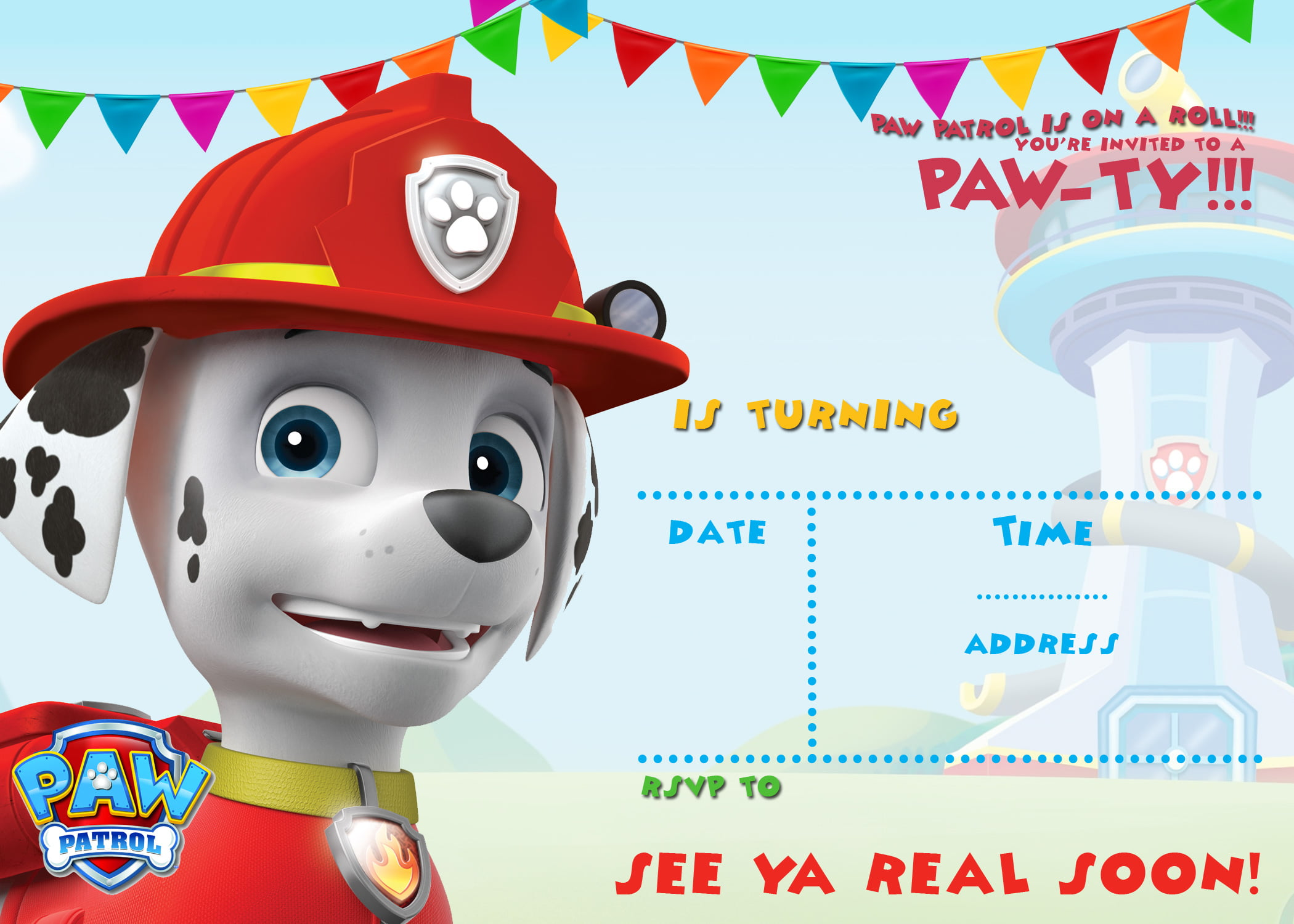 FREE Printable Paw Patrol Birthday Invitation Ideas Drevio - Paw patrol invitation template