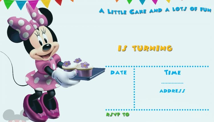 Free Printable Minnie Mouse Invitation Template For