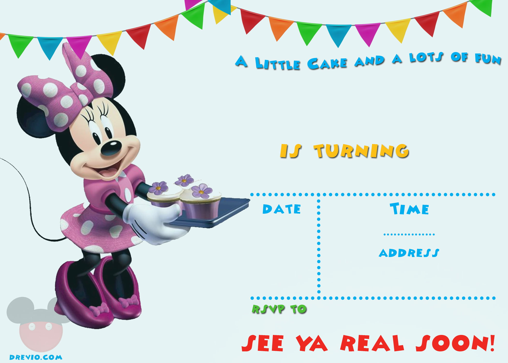 image regarding Printable Mickey Mouse Invitations identify Absolutely free Printable Mickey Mouse Celebration Invitation Template - No cost
