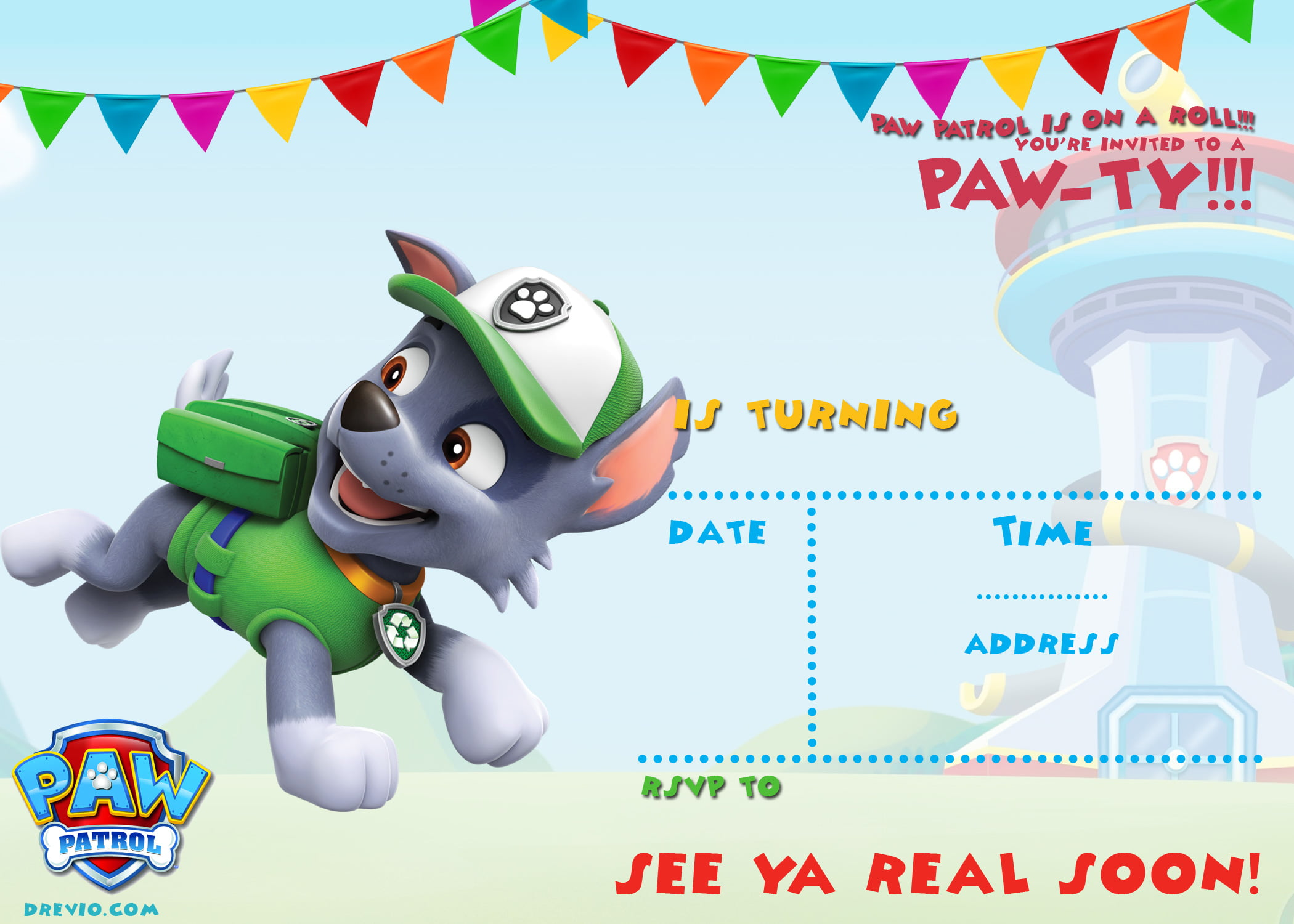 free printable paw patrol birthday invitation ideas