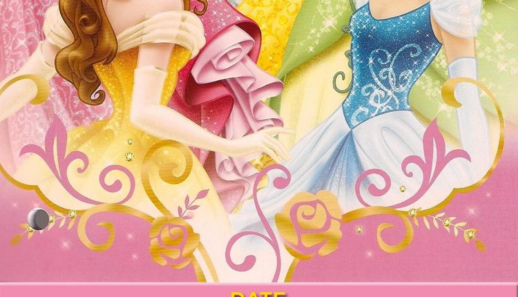 picture relating to Disney Princess Birthday Invitations Free Printable known as Cost-free-Printable-Disney-Princess-Ticket-Birthday-Invitation
