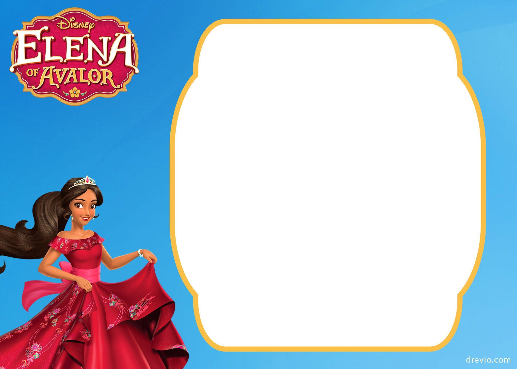 free printable elena of avalor invitation template