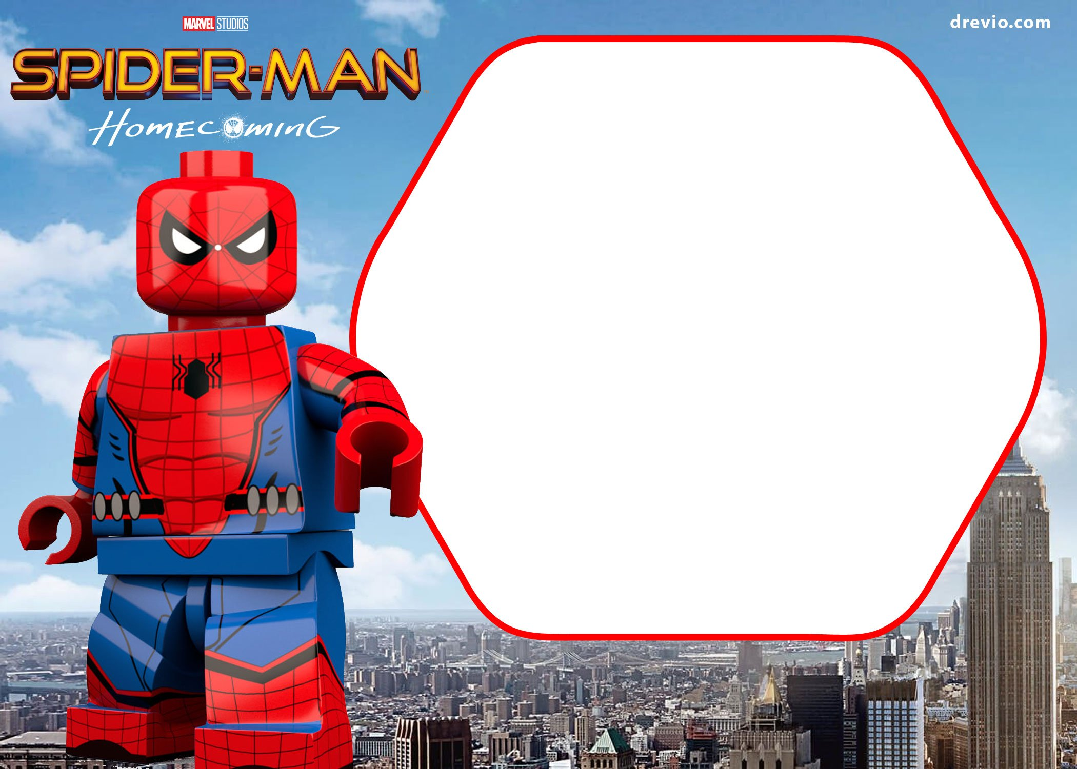 Free spiderman homecoming invitation template free invitation we have the lego version too now you decide stopboris Choice Image