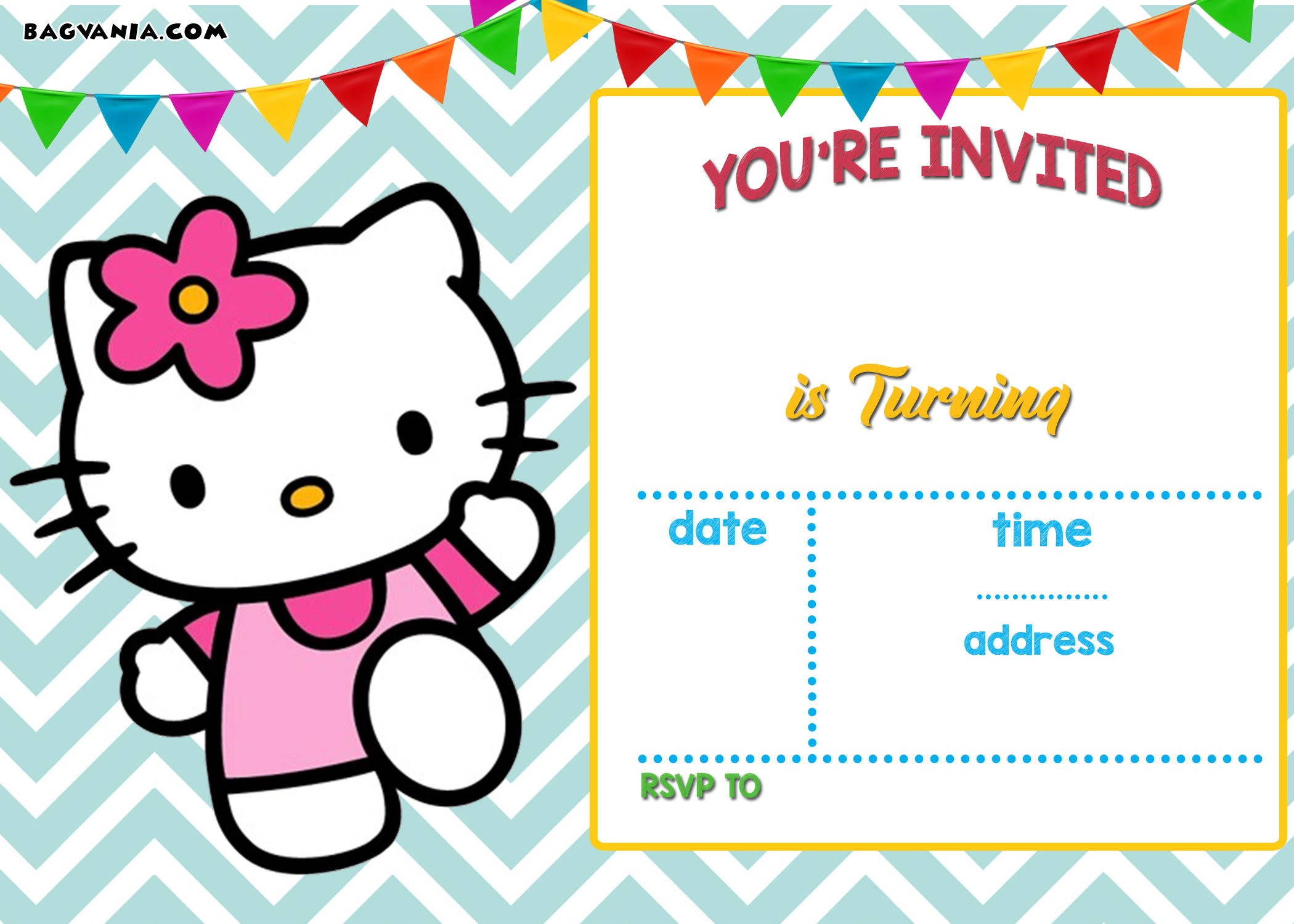 FREE Hello Kitty Invitation Templates Drevio Invitations Design