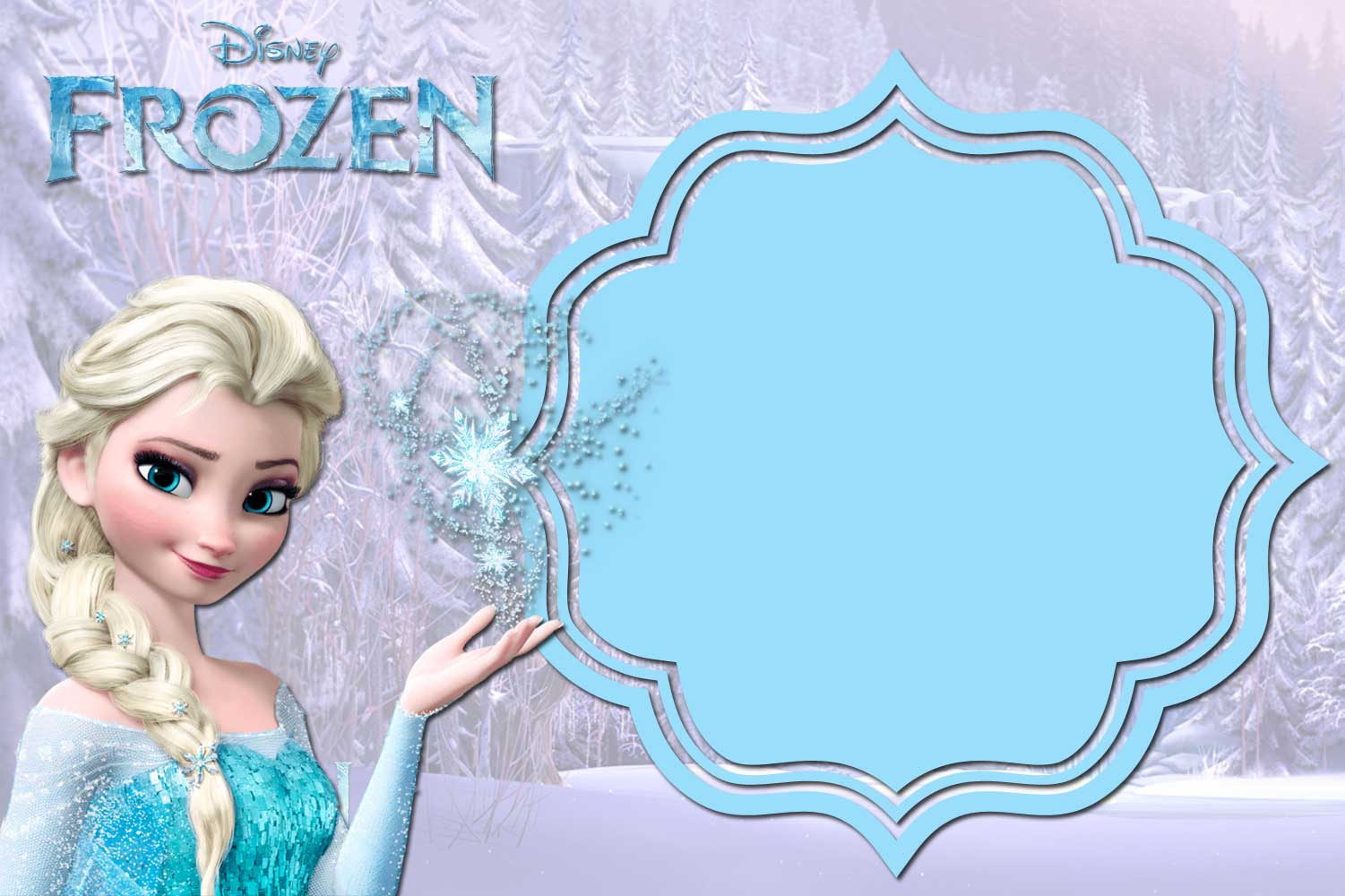Impeccable image inside frozen printable invitations