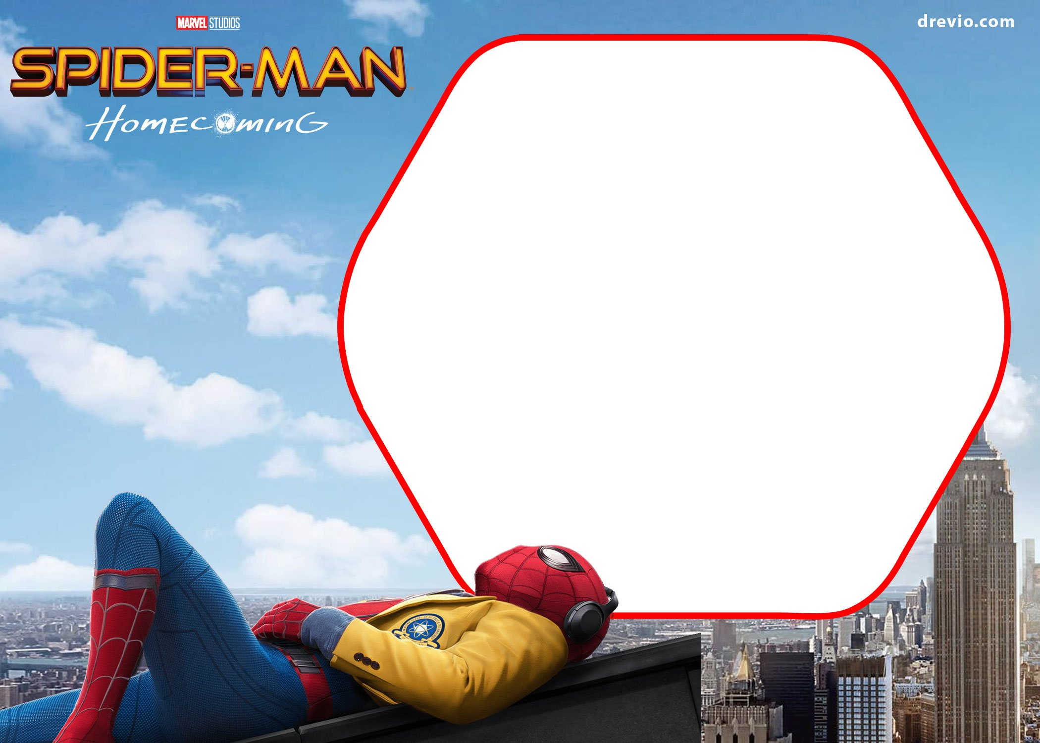 FREE Spiderman Homecoming Invitation Template | Drevio Invitations ...