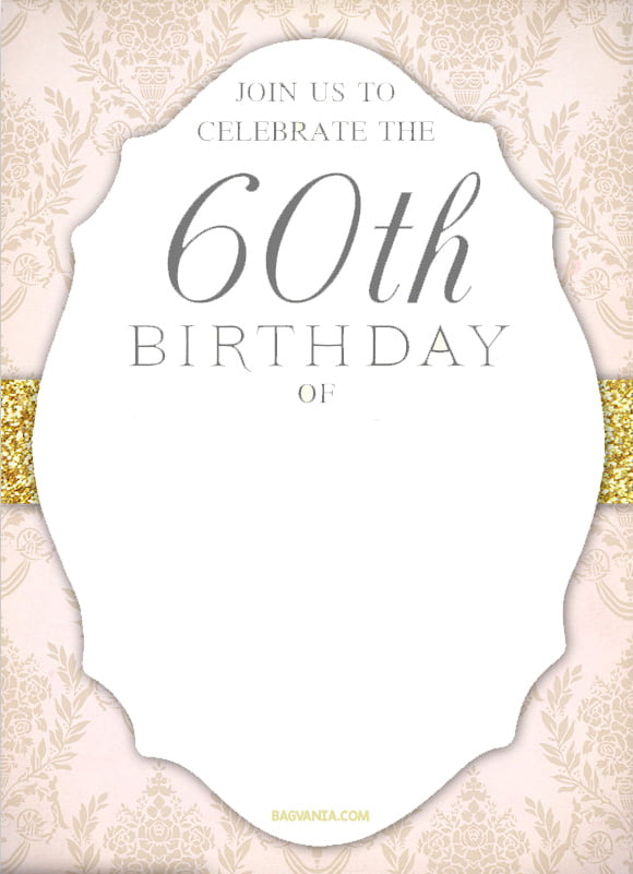 FREE Printable 60th Birthday Invitation Templates – 60th Birthday Invitation Templates