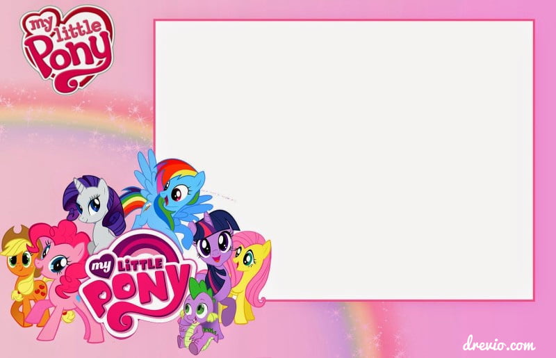 UPDATED Free Printable My Little Pony Birthday Invitations – Monster High Birthday Invitations Free
