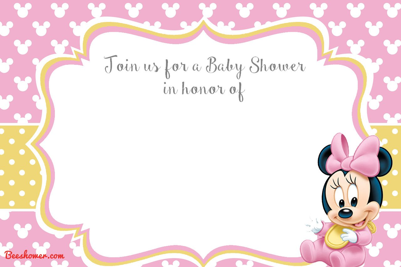 free printable disney baby shower invitations